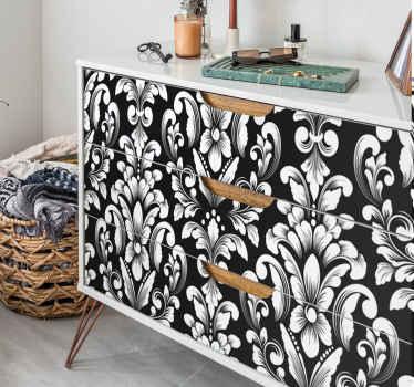 あなたが贅沢な効果を持つ花模様の家具デカールを探しているなら、このデザインは選択です。それはオリジナルで、耐久性があり、カスタマイズ可能です。