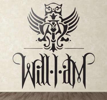 Stencil muro logo simbolo Will.i.am