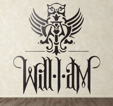 Will I Am Logo Sticker