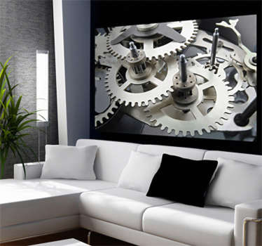 Vinilo decorativo mecanismo reloj