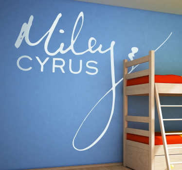 Vinilo decorativo Miley Cyrus