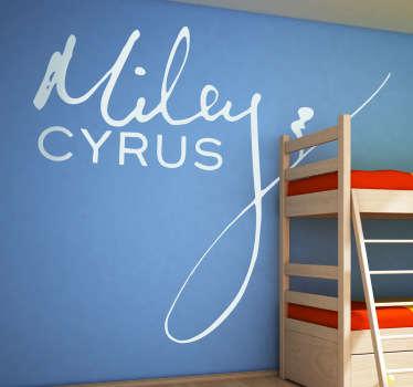 Sticker decorativo logo Miley Cyrus