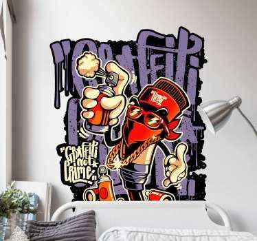 Graffiti not criminal sticker, perfecte decoratie voor uw tiener of vriend. Gemaakt van hoogwaardige materialen. 100% tevredenheid. Bekijken!