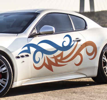 Tribal colorful flames car sticker to decorate your vehicle with a lovely touch and effect. It is original and easy to apply.