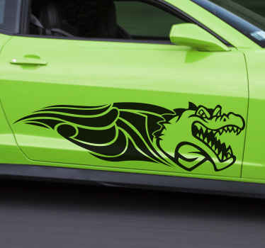 Decorative tribal crocodile car sticker customizable in the colour you want. The design is printed with quality vinyl and it is easy to apply.