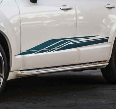 Blue race stripe car sticker for car decoration. You can apply it on any space on the body of your car and it would stand out lovely.