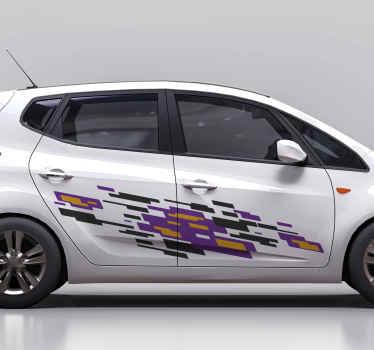 Embellissez l'espace de la porte de votre véhicule avec cet autocollant de voiture de sport à livrée colorée pour voiture. Vous aimeriez le look et l'effet sur l'espace de votre voiture.