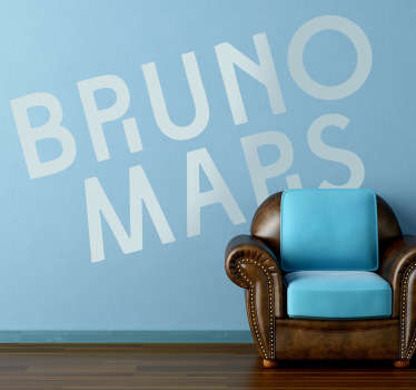 Sticker decorativo logo Bruno Mars 2