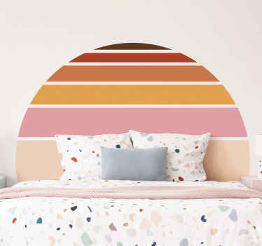 This vintage decorative sun decal would fit well as a bedroom headboard, though it can also be applied on other spaces in the home.