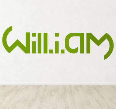 Will.i.am Sticker Wall Decor