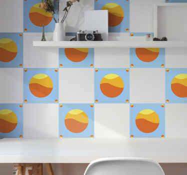 Decoratief zonsondergang patroon tegel sticker om uw keuken, badkamer, slaapkamer en elke andere ruimte van uw keuze in een huis te versieren.