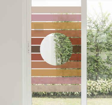 Conception d'stickers vitres décorative imitant le soleil. Belle décoration pour votre fenêtre, elle peut être appliquée sur n'importe quel fenêtre!