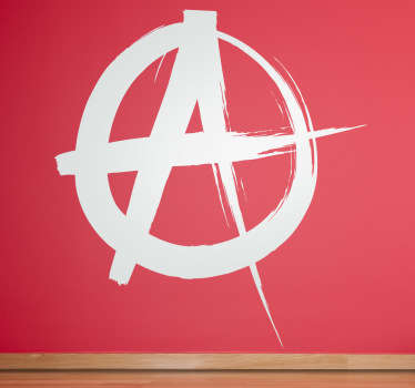 Anarchy on Your Wall! Great vinyl sticker followers of the philosophy or lovers of punk music. Extremely long-lasting material.