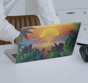 Retro Sun Bearch laptop skins to beautify the surface of your laptop. It application is really easy and it can be removed anytime you want.