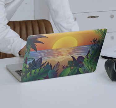 あなたのラップトップの表面を美しくするためのレトロな太陽のひげのラップトップスキン。アプリケーションは本当に簡単で、いつでも削除できます。