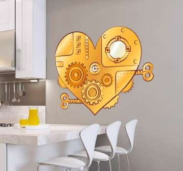 Photo Mural -  Photographic shot of a mechanism. Ideal for engineers and mechanics. Available in various sizes. Decals.