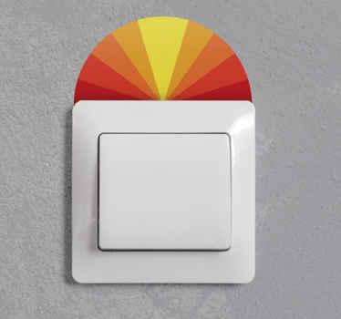 autocolante de interruptor de luz do sol vintage para embelezar um espaço de interruptor de luz. Este projeto acrescentaria um realce a esta pequena área da maneira que você adoraria.