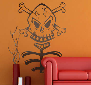 Skull and Ribs Sticker