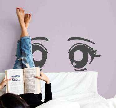 Fantástico vinilo decorativo para niñas con ojos de dibujos con los que decorarás el cuarto de tu hija con sus gustos. Elige color ¡Compra online!