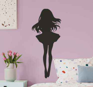 Anime girl head character stickers for a girl's rooms decoration. Very easy to apply with the use of spatula and the colour is customizable.