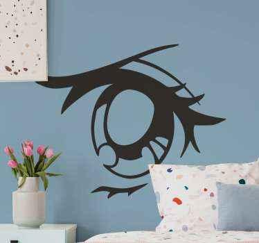 Tier nahaufnahme auge charakter Aufkleber . Sie können dieses Design an jedem teil ihres Hauses dekorieren. Es kann auf ein wohnzimmer und auf innenbereiche angewendet werden.