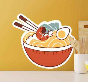 Vinilo para cocina o restaurantes de comida japonesa de dibujos para que decores tu hogar o negocio japonés con estilo ¡Envío exprés!