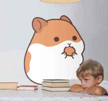 子供の寝室のためのデザインのウォールステッカー。子供たちはいつもかわいいペットが大好きです。そのため、この素敵なかわいいハムスターの動物のペットステッカーを作成しました。