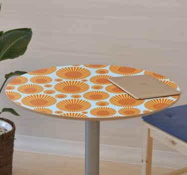 Con este papel adhesivo para muebles de patrón de soles podrás decorar cualquier superficie plana que desees ¡Medidas personalizables!