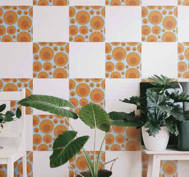 あなたの壁のスペースを美しくするための素敵なタイルの装飾的なウォールステッカーをお探しですか?この70年代のサンシャインデカールは、家のどのスペースにも飾るのに最適です。