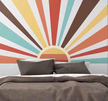 Vinilo decorativo salón de atardecer vintage para que decores tu pared y disfrutes de una decoración única ¡Descuentos disponibles!
