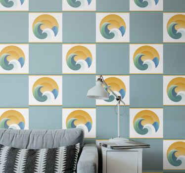 家のための装飾的なタイルのビニールの壁のステッカー。デザインは、居間、寝室、その他の家の選択スペースに適用できます。