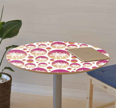 With our decorative tropical sunset landscape vinyl decals for furniture you can beatify the surface of any of your furniture with a touch of nature.