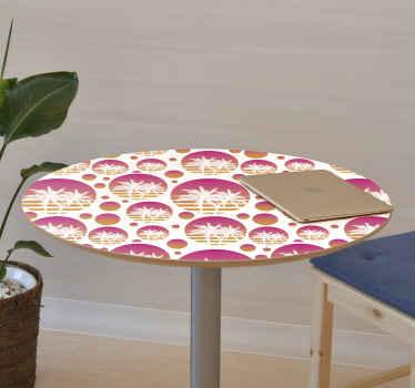 家具用の装飾的な熱帯の夕日の風景のビニールデカールを使用すると、自然のタッチで家具の表面を列福することができます。