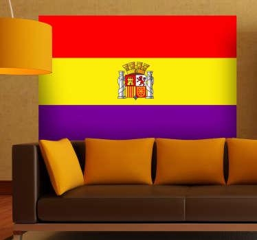 Si deseas la caída de la monarquía y sueñas con una España republicana tienes que hacerte con este adhesivo.