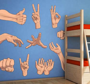 Handzeichen Aufkleber