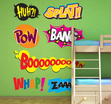 Onomatopoeia Kids Sticker