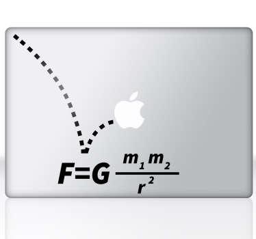 Gravitație ecuson macbook autocolant