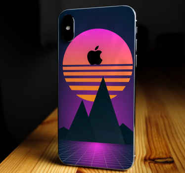 Decorative retro sun iPhone stickers. Lovely design to decorate your phone and you would sure love it. . Easy to apply and removable.