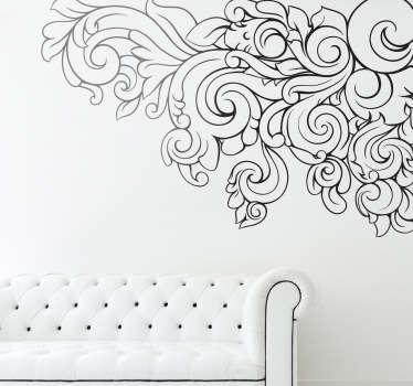 Sticker decorativo cornice stile barocco