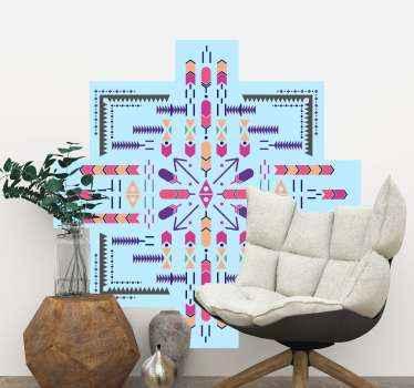 装飾的なスロバキアの民俗倫理的な花の壁のステッカー。それはどんな平らな面でも装飾的で、オリジナルで耐久性があります。必要なサイズでご利用いただけます。