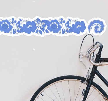 この青い装飾用スロバキアの花のウォールステッカーを使用すると、壁面に沿って美しいボーダーを作ることができます。粘着性があり、塗布が簡単です。