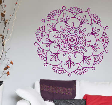 A floral sticker of Indian inspiration. A spiritual representation that will take you to exotic places. Brilliant flower decal for your home!