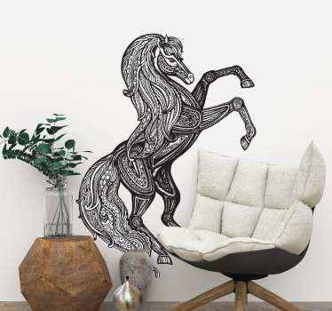 černobílý kůň zvířecí samolepka na zeď. Kůň navržený s etickými vzory, krásný design do obývacího pokoje a může být vyzdoben na jiném prostoru.