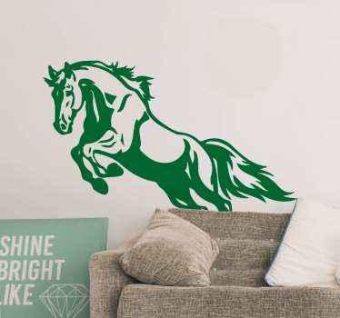 Samolepka na zeď na dekorační skákání. Design lze zdobit na libovolném plochém povrchu podle vašeho výběru a barvu lze přizpůsobit.