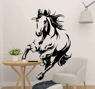 Decorative illustrative wall sticker of running horse. This design would be lovely for a living room decoration and other space of choice.