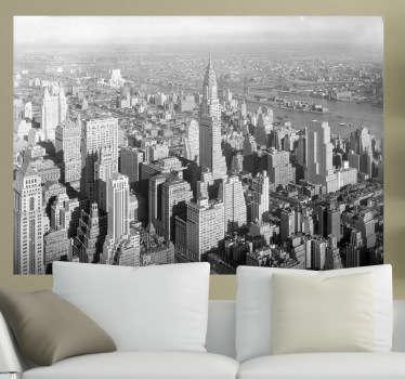 New York Building Decorative Sticker