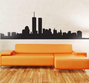 Seinätarra New York siluetti