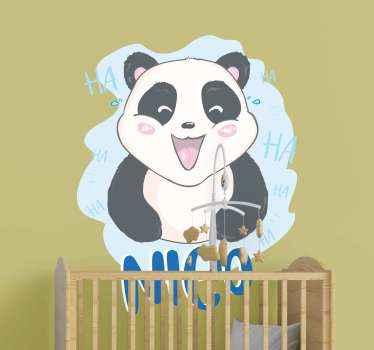 Un autocollant animal bébé panda avec une illustration de visage surpris. Il est original, durable et facile à appliquer. Disponible dans n'importe quelle taille requise.