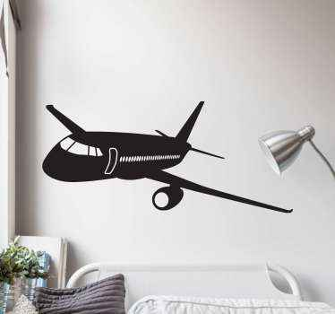 Decorative travel iconic sticker of an airplane for travel lovers This design can be decorated on any flat surface you want. Original and durable.
