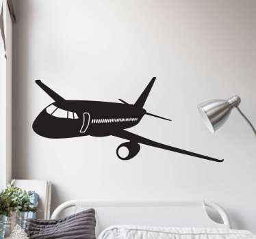 Dekorative reise ikonischen Aufklebereines flugzeugs für reiseliebhaber dieses Design kann auf jeder ebenen fläche, die Sie wollen, dekoriert werden. Original und langlebig.
